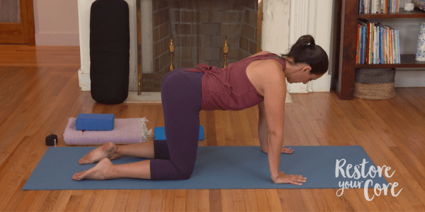 Table top pose for pelvic floor exercises