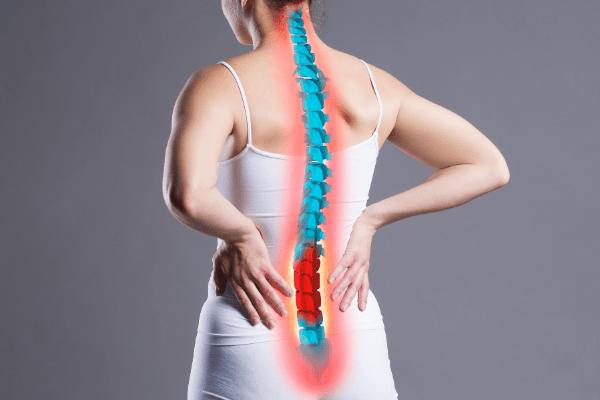 lumbar spine pain symptom of uterine prolapse