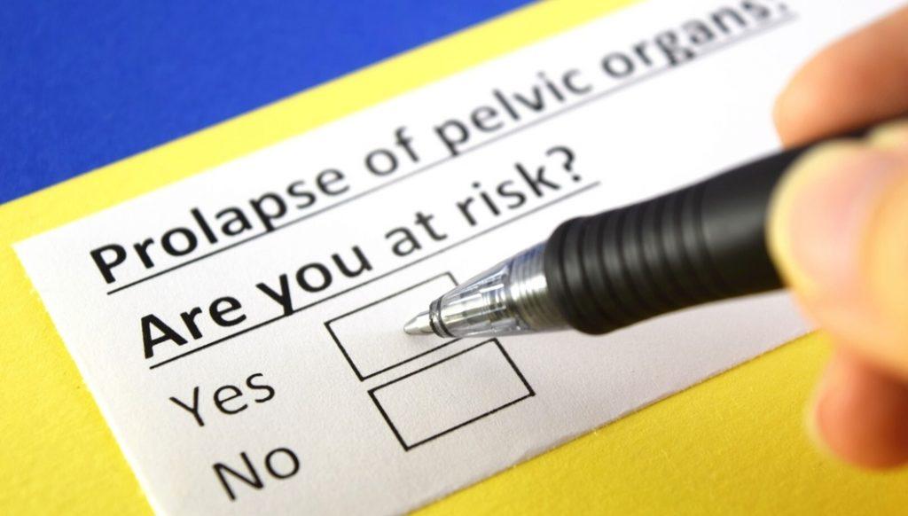 prolapse of pelvic organs risk